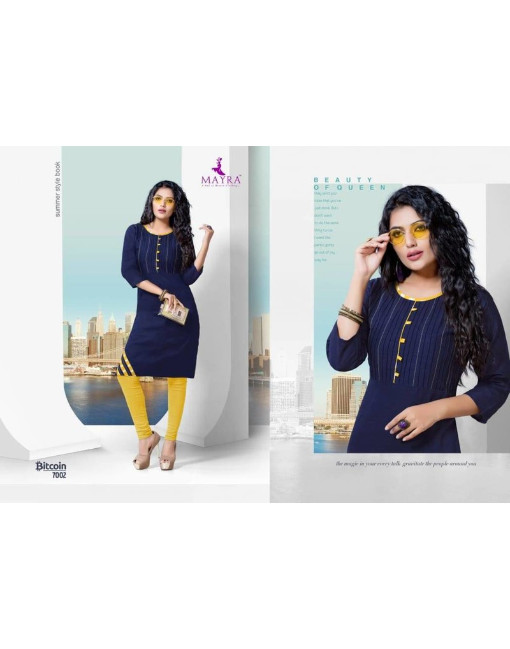Rs 320 Piece - Bitcoin Stitched kurti Wholesale Catalog 08 pcs