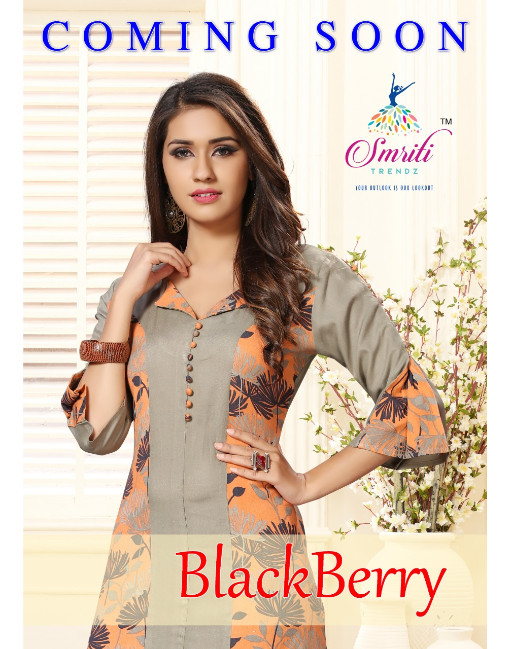 Rs 495 Piece - Blackberry by Smriti Trendz Stitched Kurti Wholesale Catalog 12 pcs