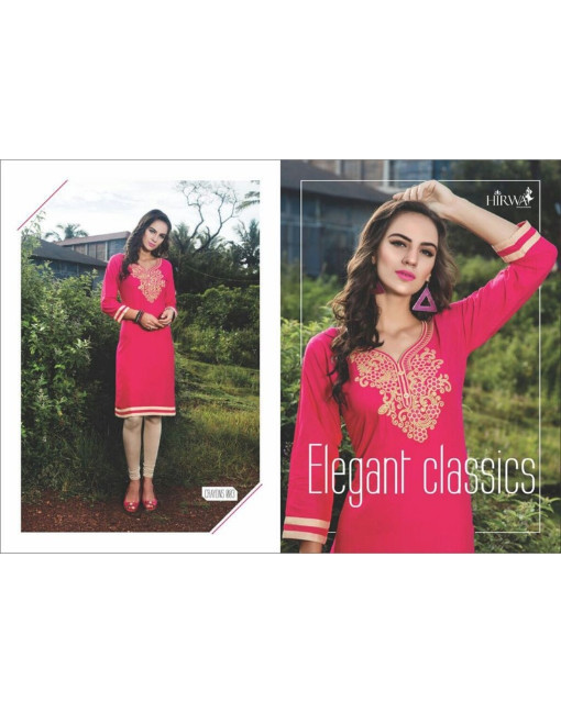 Rs 361 Piece - Crayons by Hirwa Stitched Kurti Wholesale Catalog 12 pcs