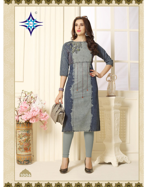 Rs 630 Piece - Denim Queen Stitched Kurti Wholesale Catalog 08 pcs