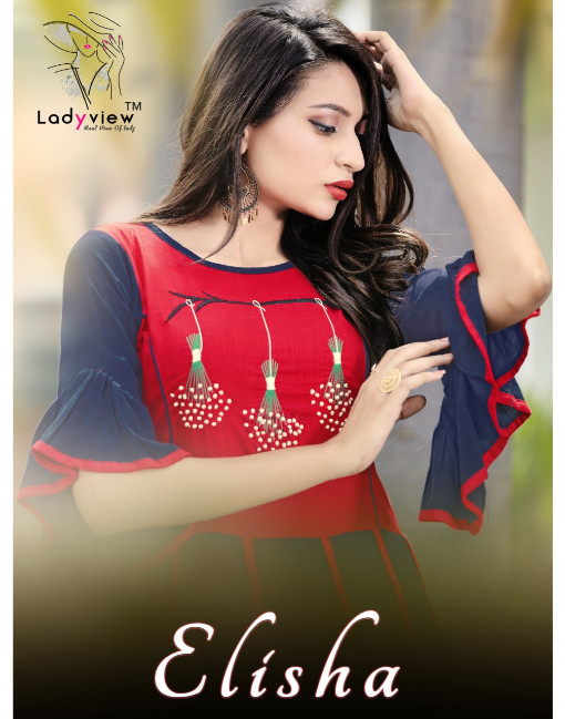 Rs 845 Piece - Ladyview Elisha Stitched Kurti Wholesale Catalog 06 pcs