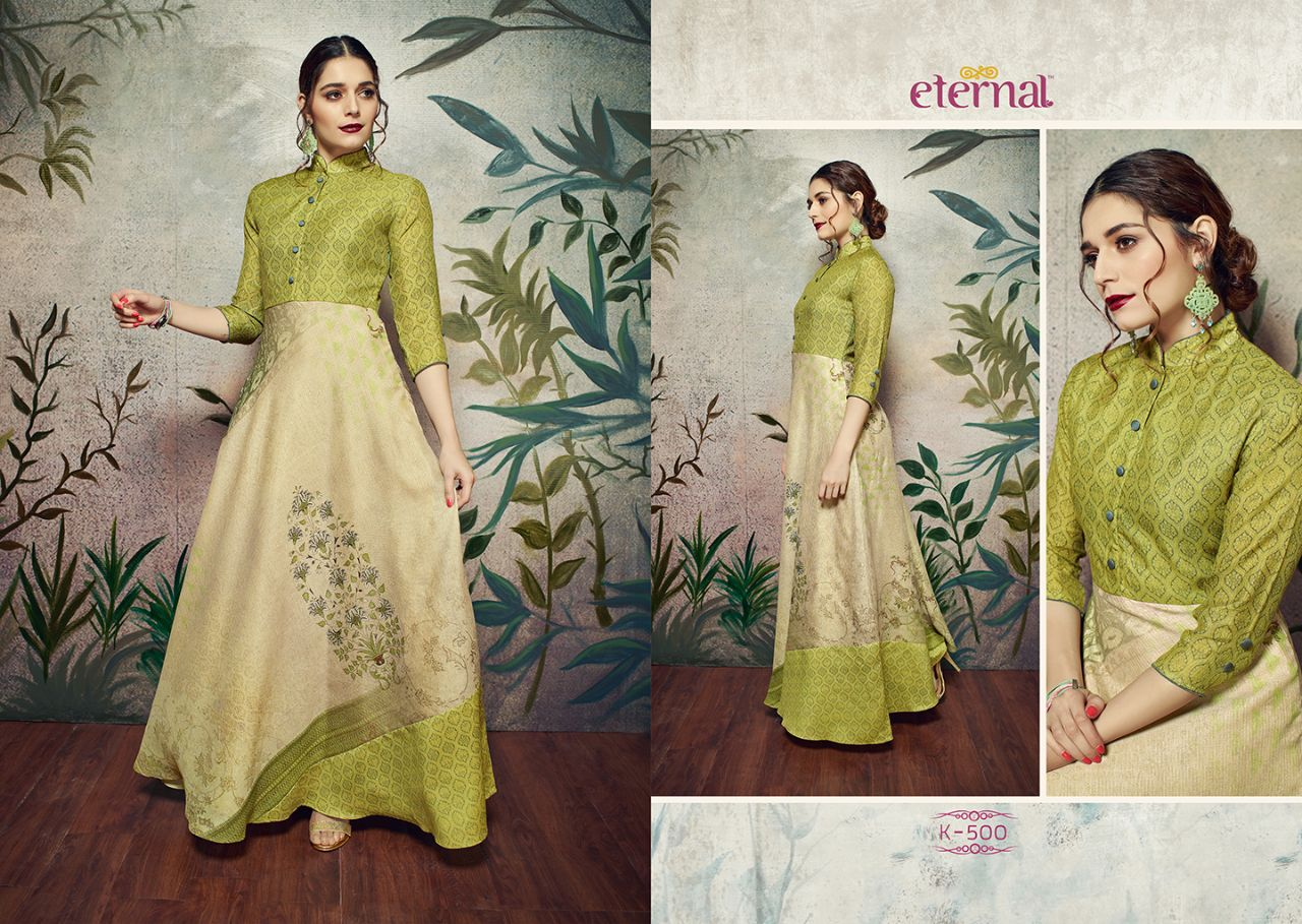 Rs. 995 Piece - Eternal SilkMode Gowns Stitched Suit Catalog 11 Pcs