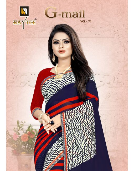 Rs 231 Pc G-Mail 74 Saree Wholesale Catalog 14 pcs