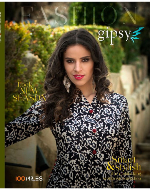 Rs 490 Piece - 100 miles Gipsy Stitched Kurti Wholesale Catalog 06 pcs