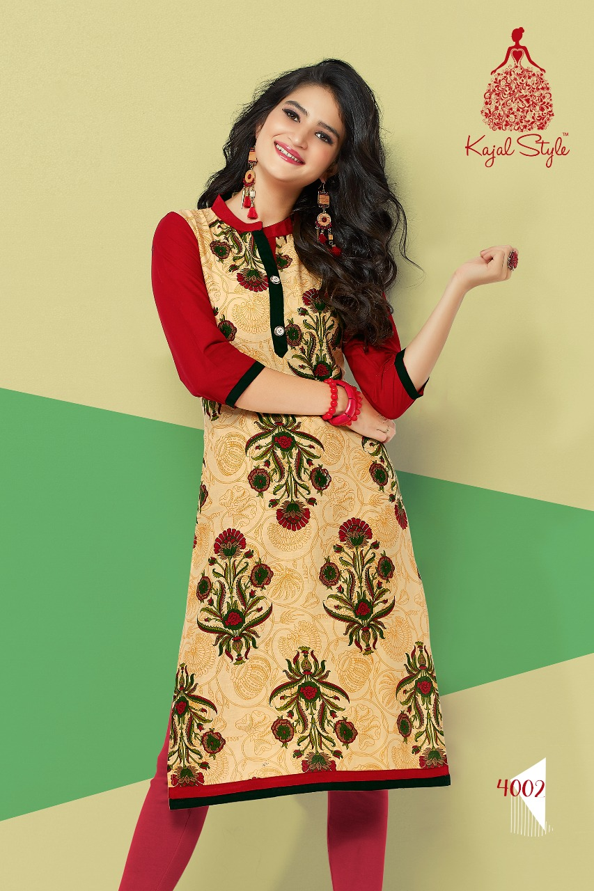 Rs 190 piece - Kajal Style Baby Doll Vol 4 Stitched Kurti Wholesale catalog 20 pcs