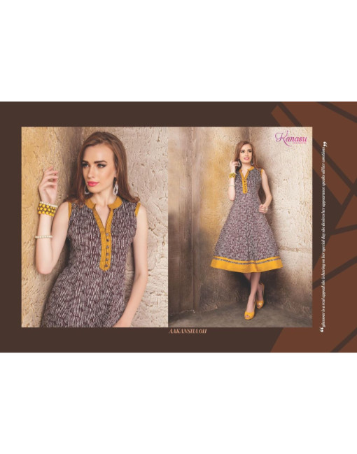 Rs 555 Piece - AAKANSHA VOL-2 by KANASU Stitched Kurti Wholesale Catalog 12 pcs