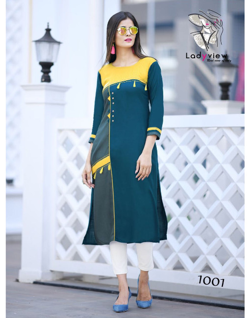 Rs 425 Piece - LadyView Menka Stitched Kurti Wholesale Catalog 07 pcs