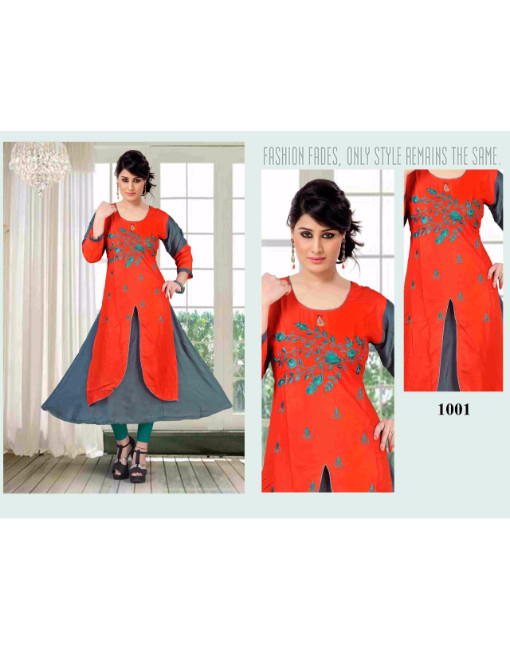 Rs 450 Piece - Objaction by flora Stitched Kurti Wholesale Catalog 12 pcs