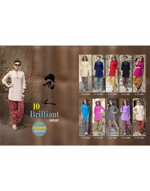 Rs 630 Piece - Prime Kudi kurti and patiyala Stitched Wholesale Catalog 10 pcs
