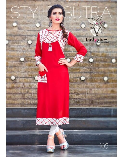 Rs 425 Piece - Saisha Stitched Kurti Wholesale Catalog 08 pcs