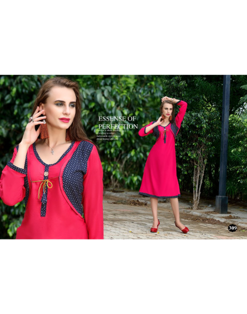 Rs 333 Piece - Saz vol 2 kurti with jacket Wholesale Catalog 12 pcs