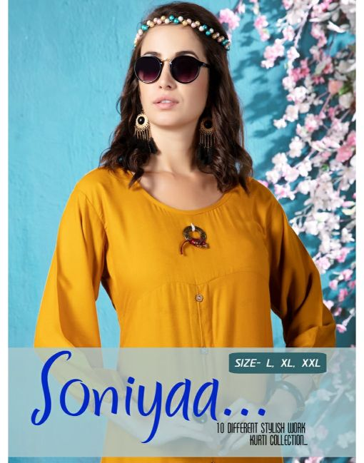 Rs 391 Pc Soniyaa Stitched Kurti Wholesale Catalog 10 pcs