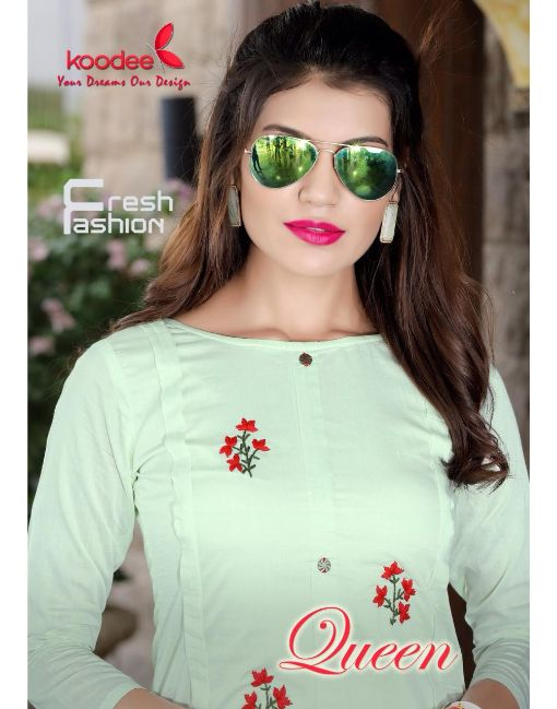 Rs 750 Pc Koodee Queen Kurti With Palazzo Wholesale Catalog 04 pcs