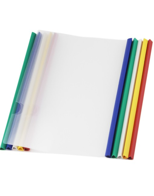 Transparent File Folder Sliding Bar Report Covers (Pack of 10)